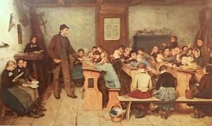 Alfred Anker - Die Dorfschule von 1848